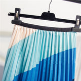 Striped Bold Colored Skirt