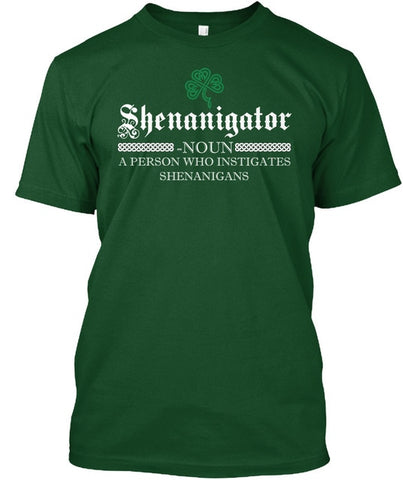 St. Paddy's Day Shenanigator T-Shirt- Order Larger Size