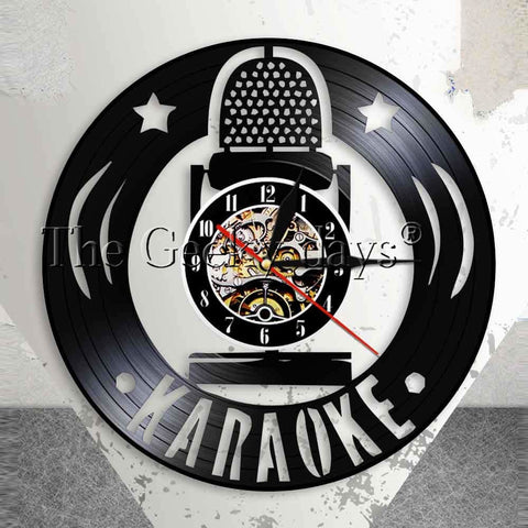 Karaoke Vinyl Record Wall Clock