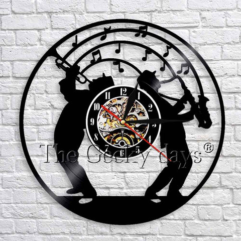 Jazz Vinyl Record Wall Clock In 3 Designs
