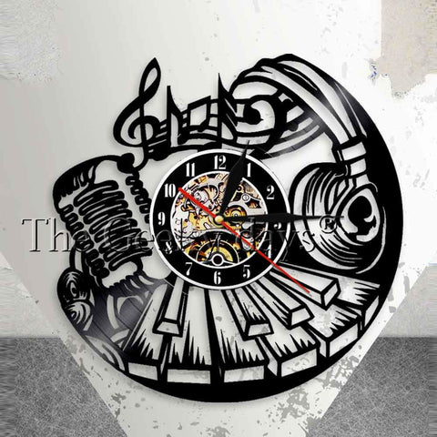 Music Theme Vinyl Record Clock