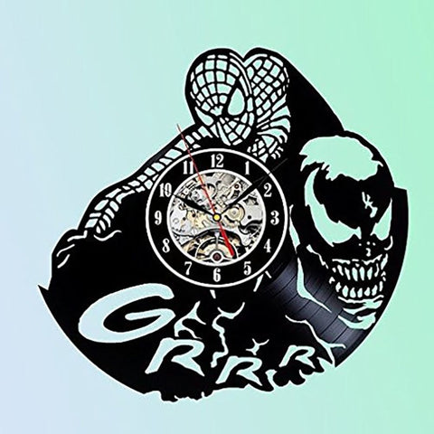 Spiderman Vinyl Record Wall Clock