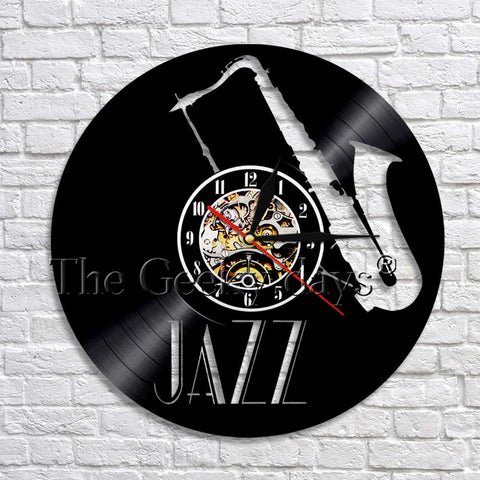 Jazz Vinyl Record Wall Clock In 5 Designs