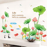 Lotus Flower Large Wall Decal