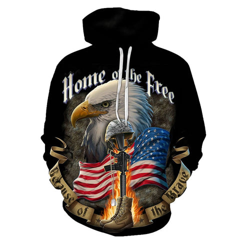 Home Of The Free Patroic Hoodie