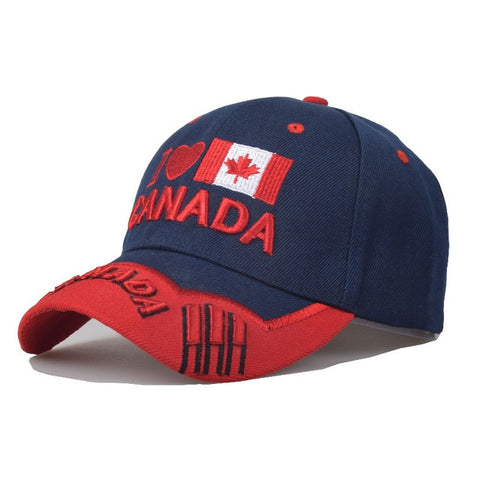 Canadian Patriotic Baseball Cap In 4 Designs
