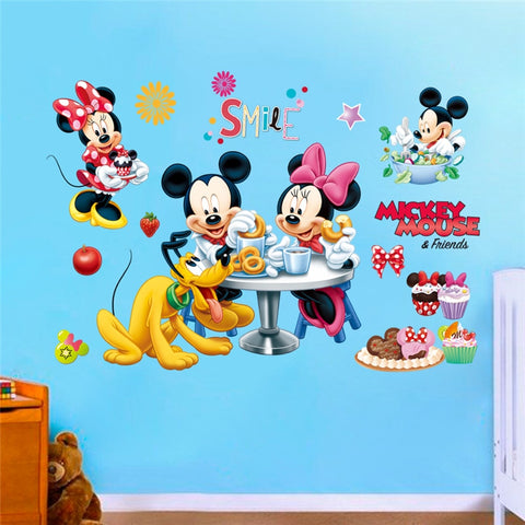 Mickey Minnie And the Gang Wall Decal In 7 Designs