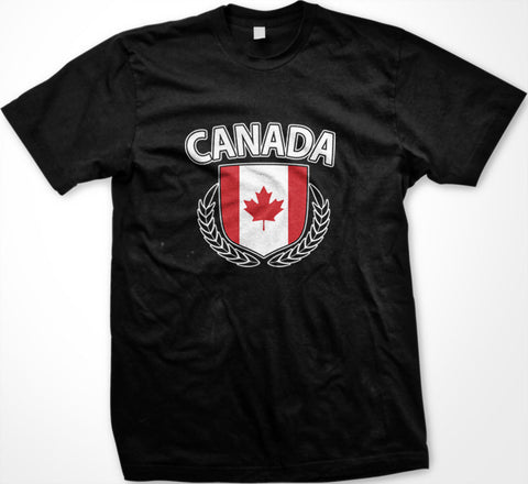 Canada Flag With Olive Branches T-shirt