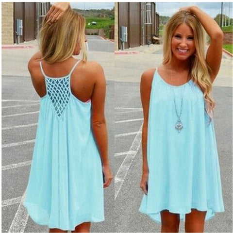 Chiffon Loose Mini Dress