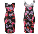 Floral Large Print Sleeveless Dress