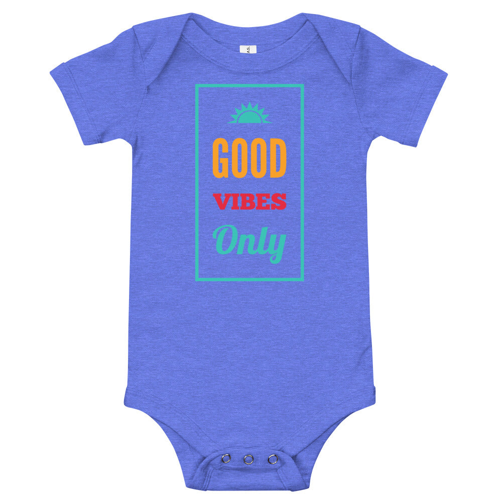 Good Vibes Only Baby short sleeve one piece