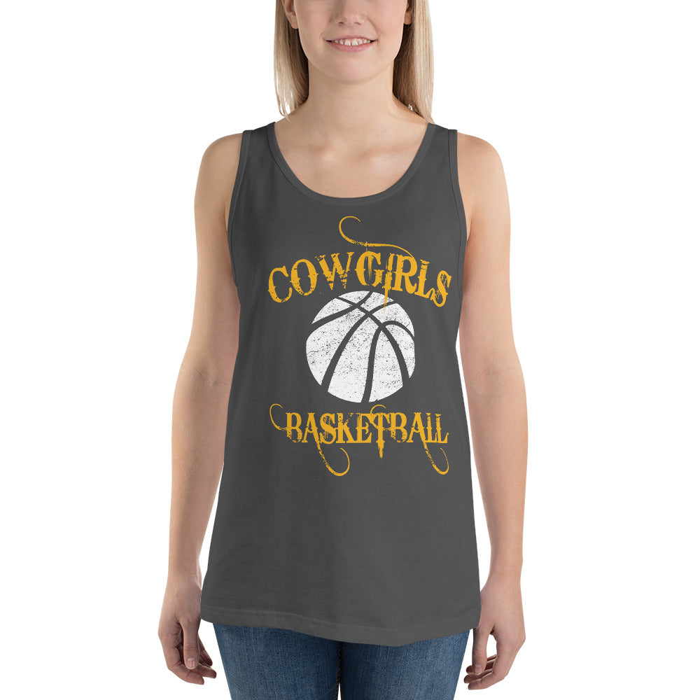 Goodland GHS Cowgirls Basketball Unisex Tank Top