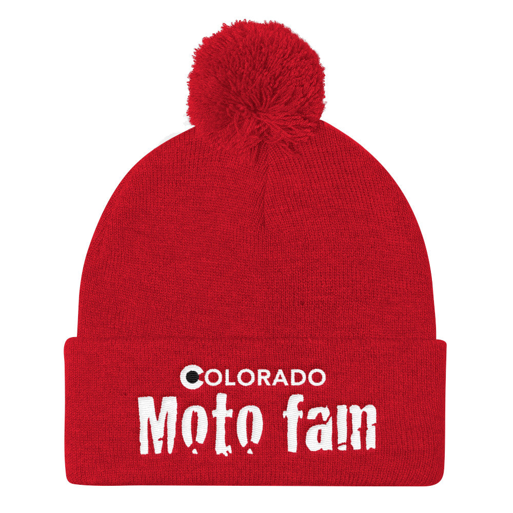ColoradoMotoFam - Pom Pom Knit Cap