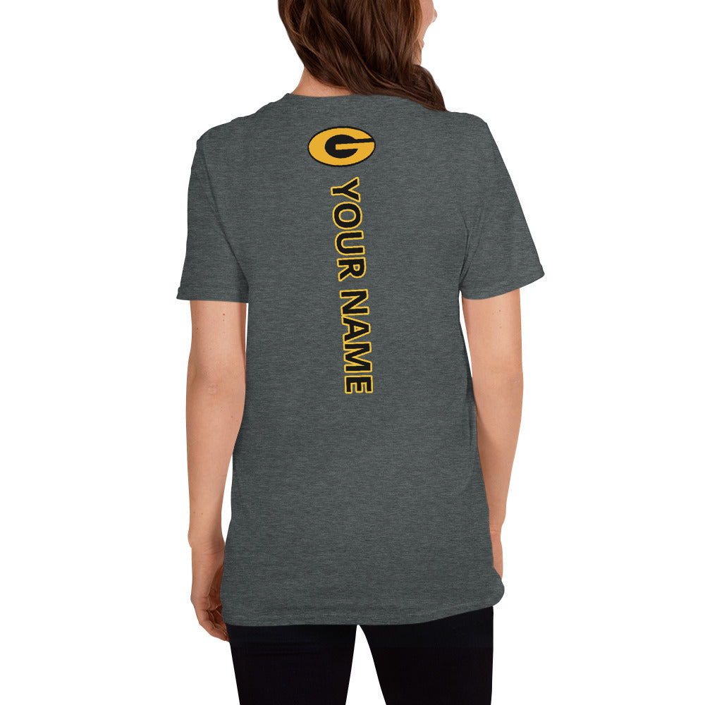 GHS Cowgirls Basketball with American Flag T-Shirt