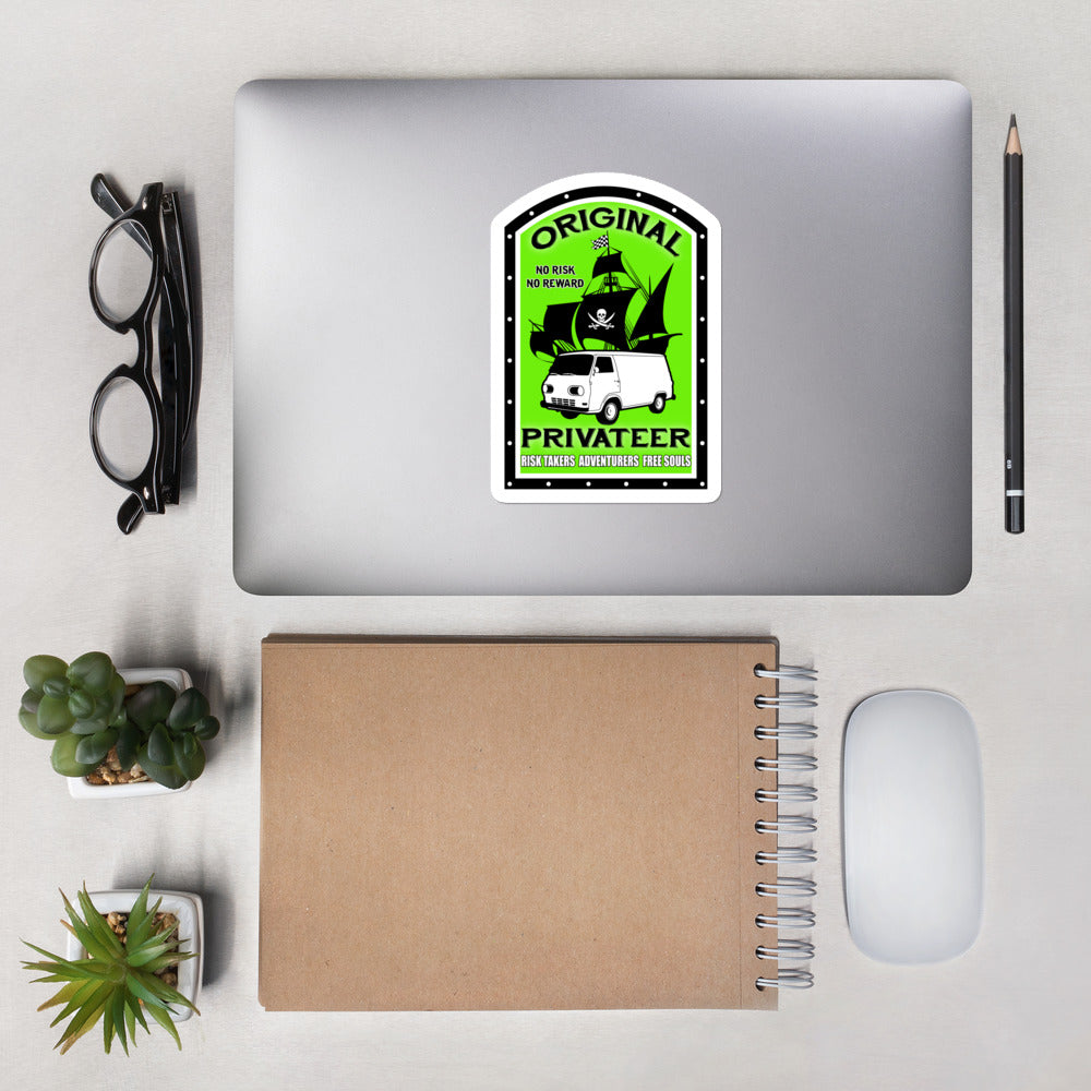 Original Privateer Lifestyle Green - Bubble-free stickers