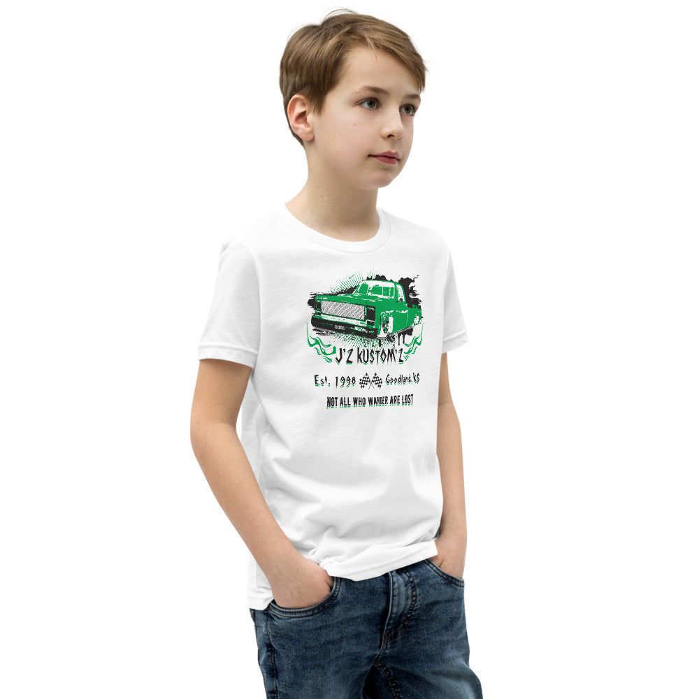 Dropped Lowered Square Body C10 Chevy Youth T-Shirt