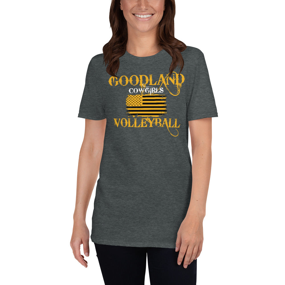 Cowgirls Volleyball BlacknGold T-Shirt