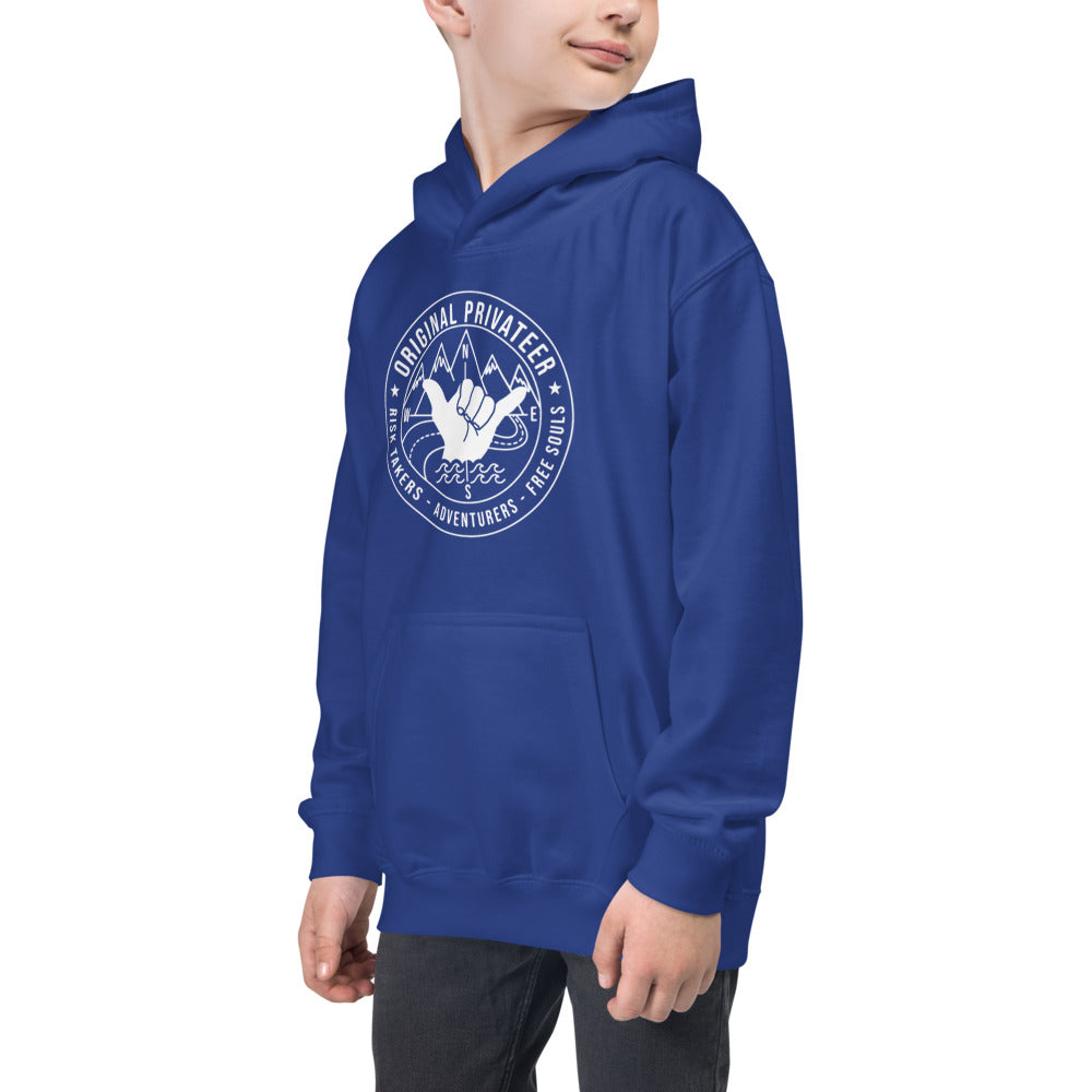 Surf Skate Moto Risk Taker Society Kids Hoodie