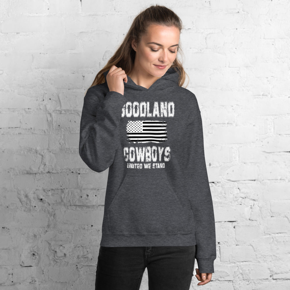 Goodland Cowboys United We Stand blk wh Hoodie