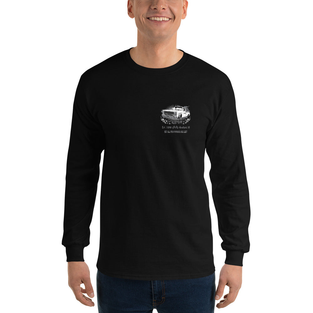 Dropped Lowered Square Body C10 Chevy Long Sleeve T-Shirt