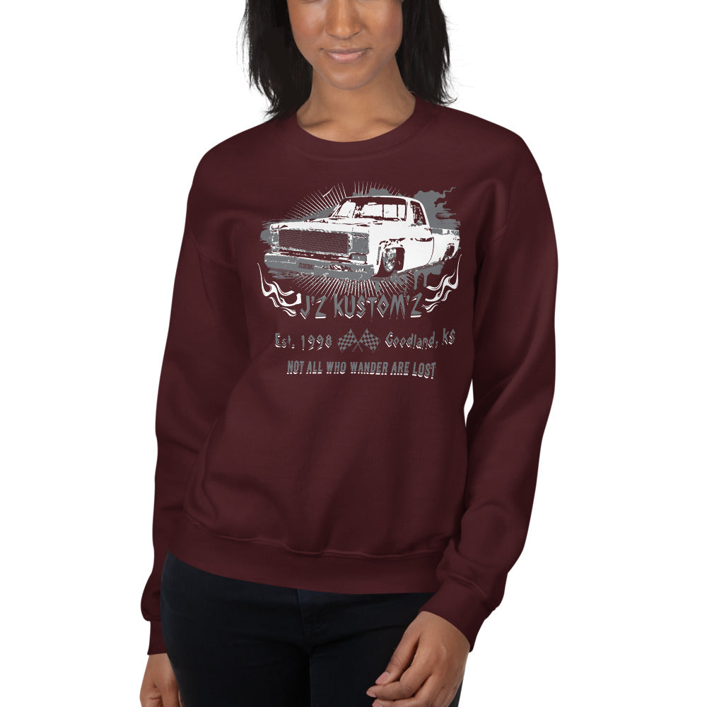 Dropped Lowered Square Body C10 Chevy Unisex Sweatshirt