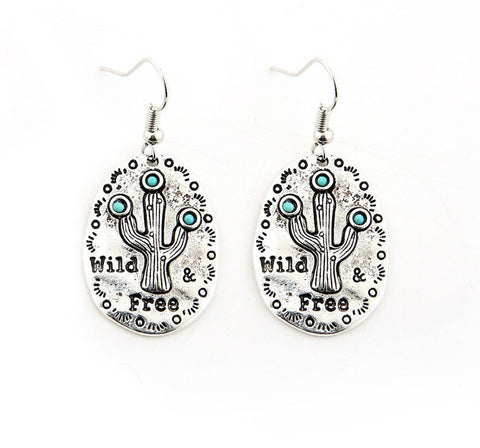 wild free cactus fun earrings