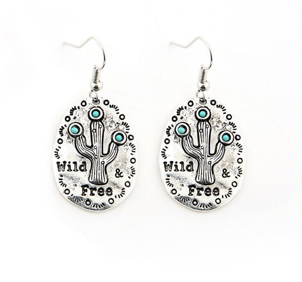 """Wild and Free"" Cactus Earrings"