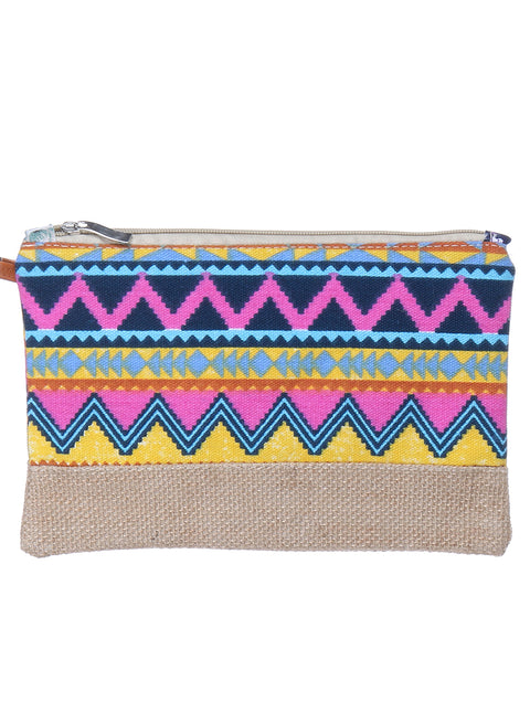 BOHEMIAN PRINT CANVAS COSMETIC BAG SET