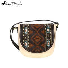 MONTANA WEST AZTEC SADDLE BAG