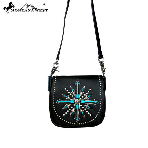 Montana West Daisy Leather Crossbody