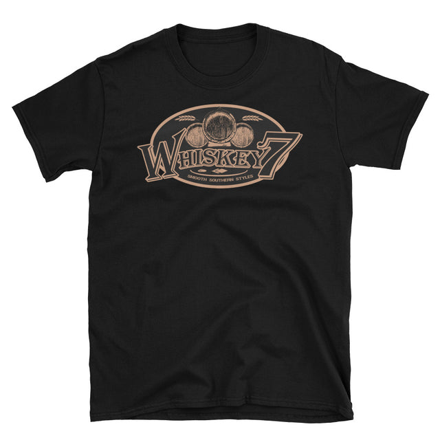 Whiskey 7 Barrel - Men/Unisex T-Shirts