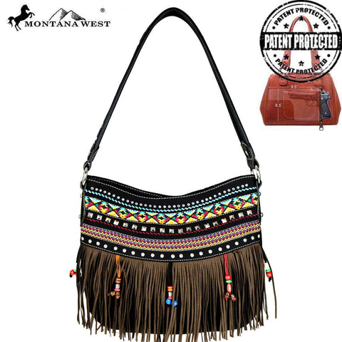 MONTANA WEST FRINGE HOBO HANDBAG