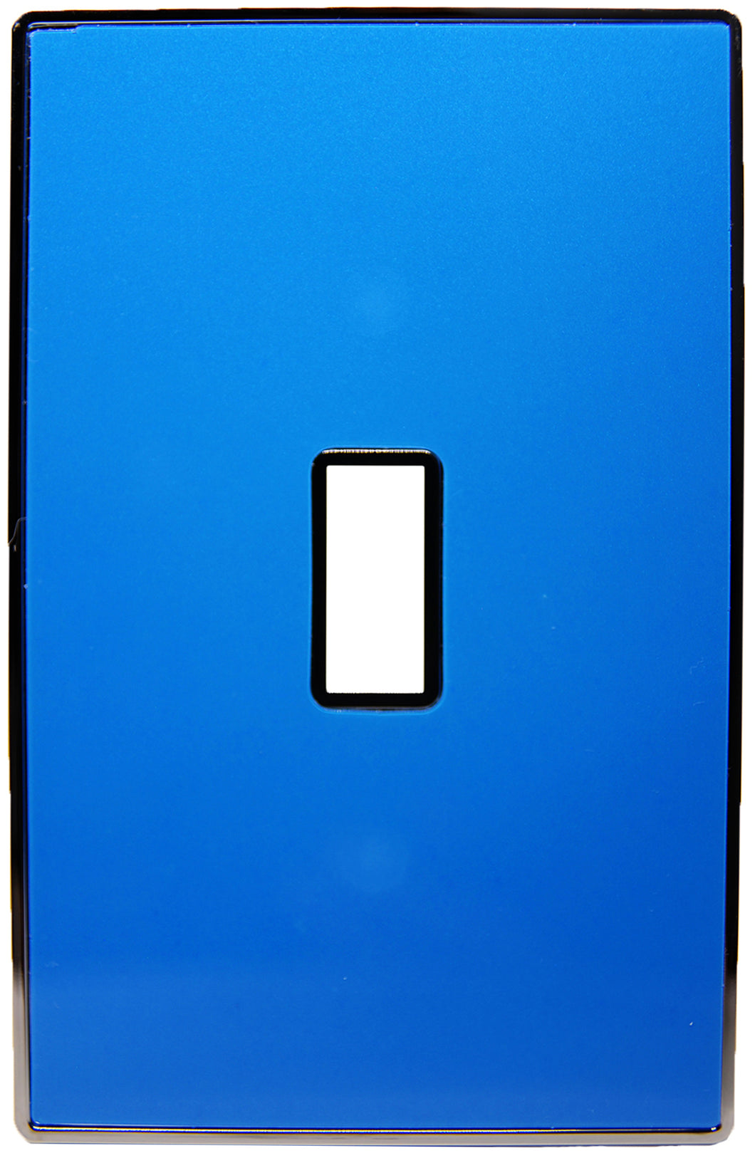 UC05 Light Blue Pearl/ 1-Gang Toggle Cover & Chrome Frame