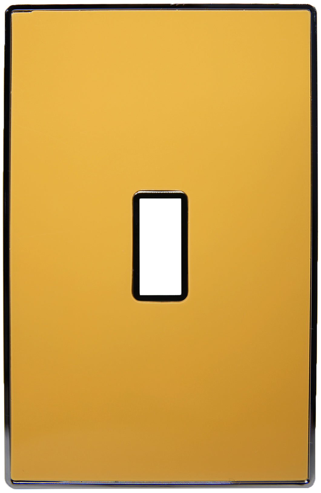 UC06 Mustard/ 1-Gang Toggle Cover & Chrome Frame