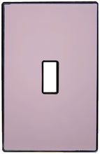 UC11 Pale Pink Beige/ 1-Gang Toggle Cover & Chrome Frame