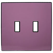 UC13 Lavender/ 2-Gang Toggle Cover & Chrome Frame