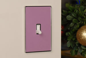 UC13 Lavender/ 1-Gang Toggle Cover & Chrome Frame