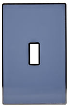 UC18 Slate Blue/ 1-Gang Toggle Cover & Chrome Frame