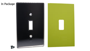 UC09 Lime Shock/ 1-Gang Toggle Cover & Chrome Frame