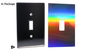 UC33 Hologram/ 1-Gang Toggle Cover & Chrome Frame