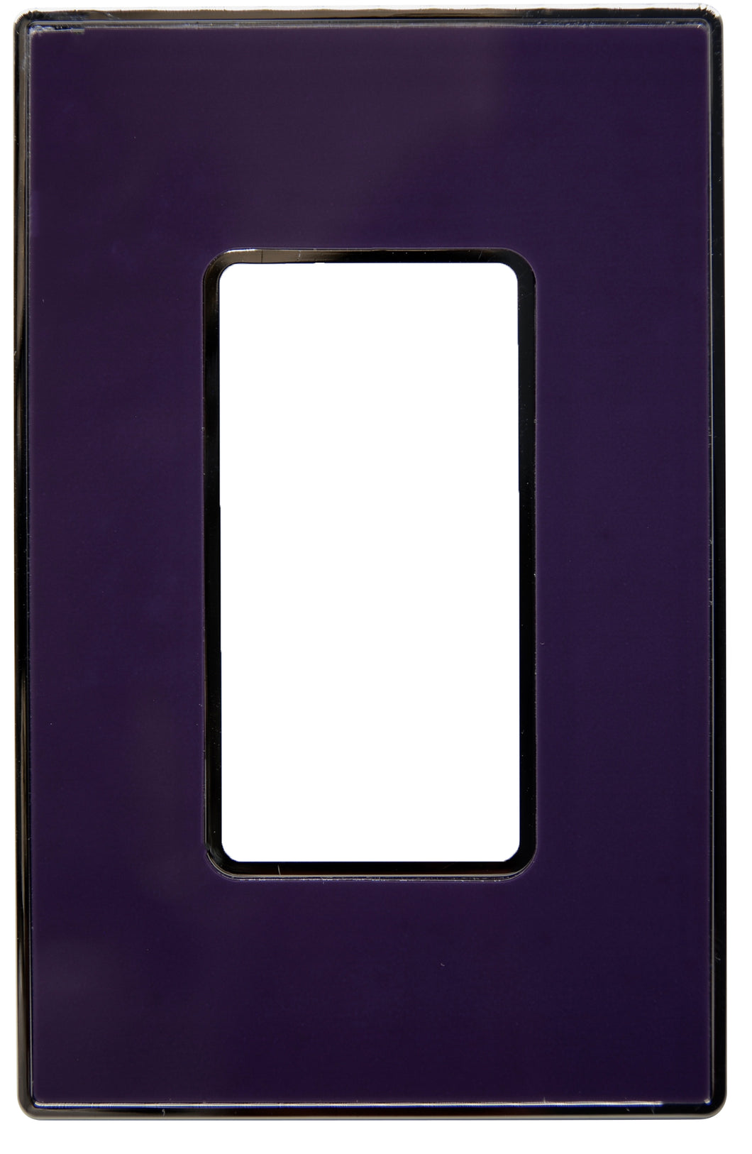 UC21 Purple/ 1-Gang Rocker Cover & Chrome Frame