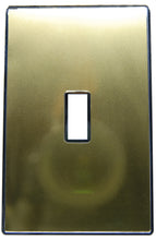 UC25 Gold/ 1-Gang Toggle Cover & Chrome Frame