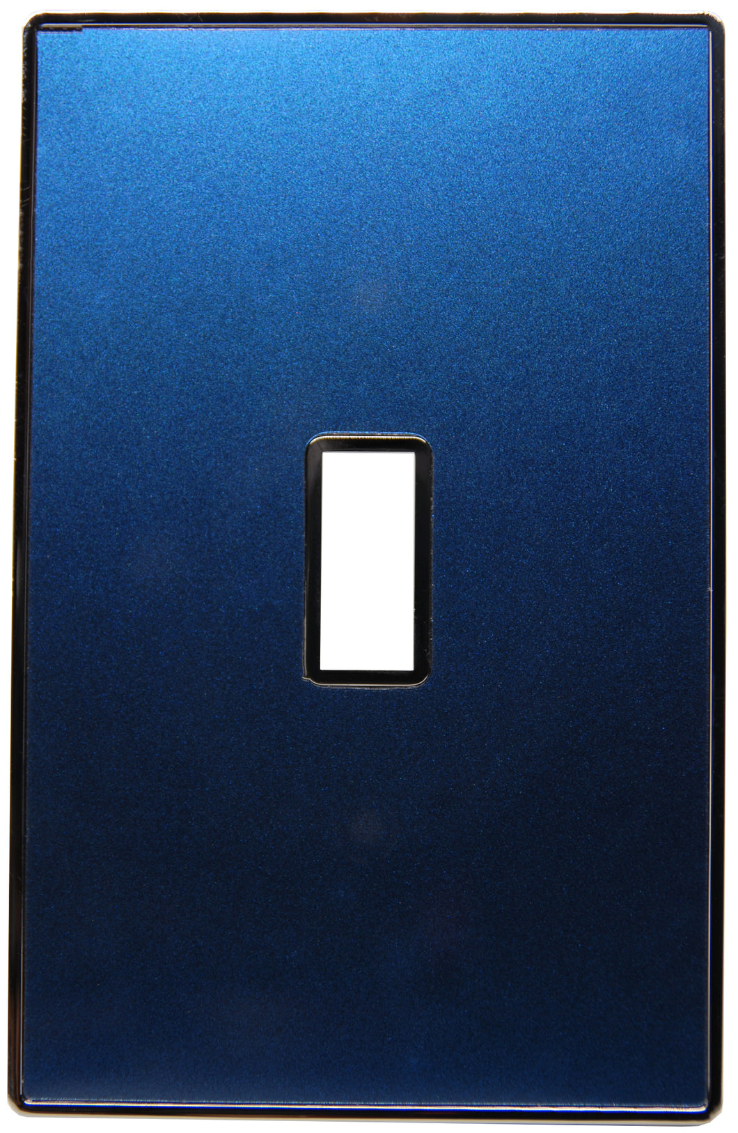 UC28 Deep Blue Pearl/ 1-Gang Toggle Cover & Chrome Frame