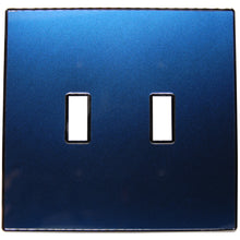 UC28 Deep Blue Pearl/ 2-Gang Toggle Cover & Chrome Frame