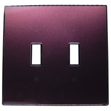 UC30 Purple Brown Pearl/ 2-Gang Toggle Cover & Chrome Frame