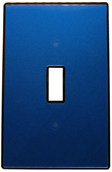 UC37 Blue Pearl/ 1-Gang Toggle Cover & Chrome Frame