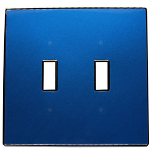 UC37 Blue Pearl/ 2-Gang Toggle Cover & Chrome Frame