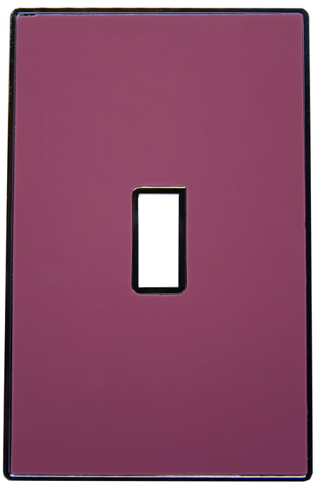 UC38 Plum Wine/ 1-Gang Toggle Cover & Chrome Frame
