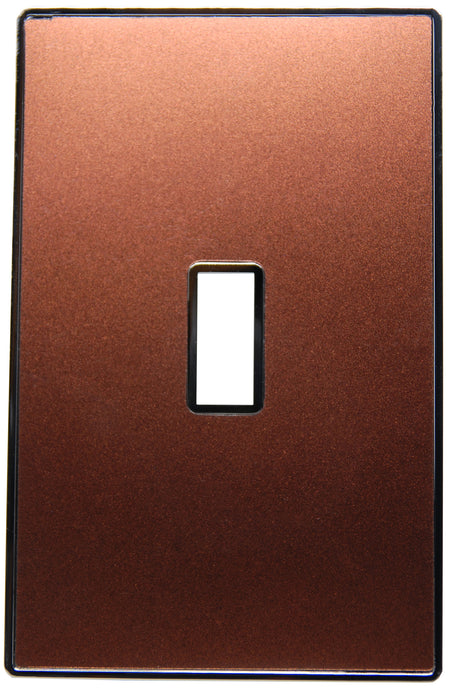 UC40 Copper Brown Pearl/ 1-Gang Toggle Cover & Chrome Frame