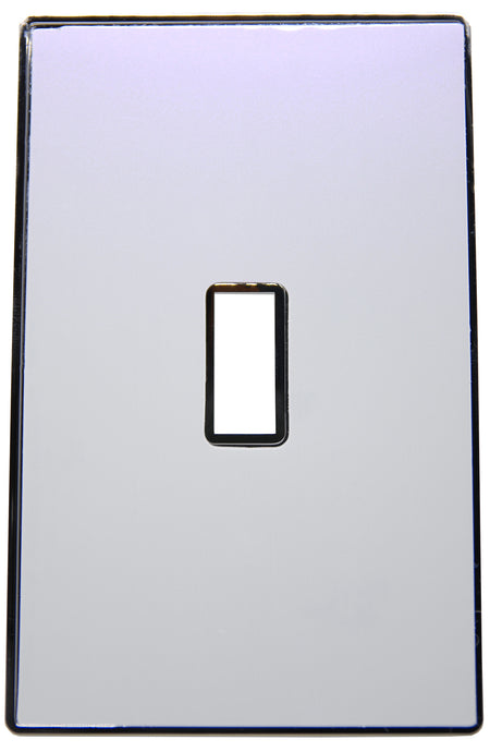 UC41 Two-Tone,White-Purple Pearl/ 1-Gang Toggle Cover & Chrome Frame